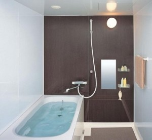 Bath Tub for lovely small bathroom decoration.