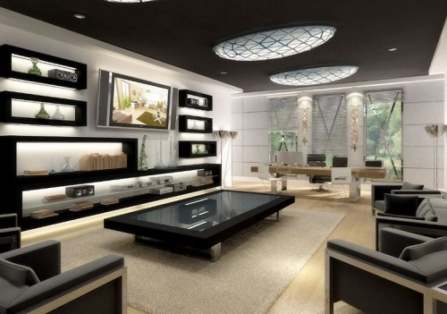 Beautiful living room interior decor.