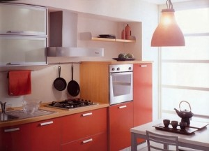 Beautiful look of small kitchen interior design.
