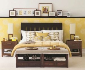 Bed furniture having cool space to store/keep shoes