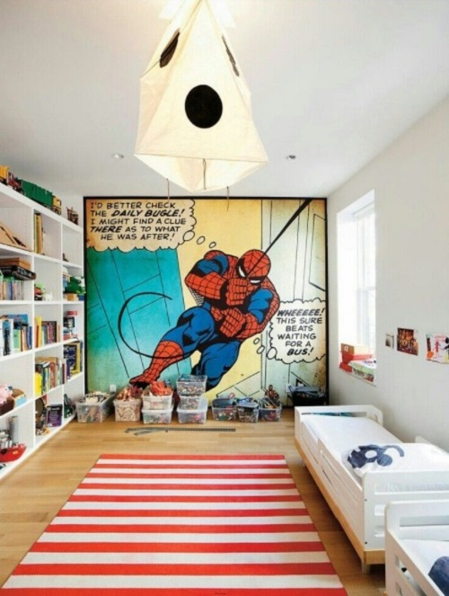 Boy bedroom design, decor idea