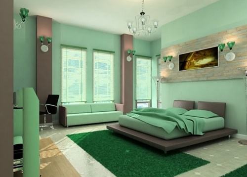 Bright Colored Walls Bedroom Decor For Boys.