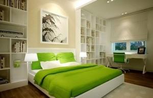 Color schemes for Feng Shui bedroom.
