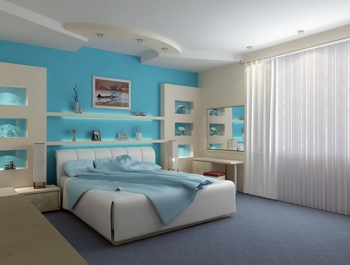 Color selection is vital in bedroom decor design idea.