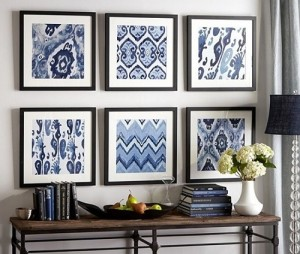 DIY Framed Fabrics for wall art in home decoration.