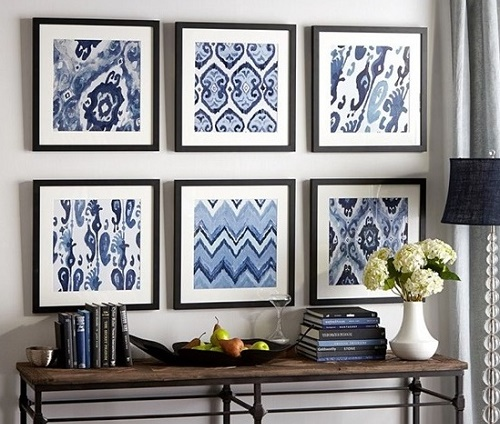 DIY Framed Fabrics For Wall Art In Home Decoration