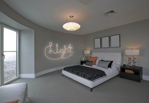 DIY Rope Words Wall Art for lovely bedroom.