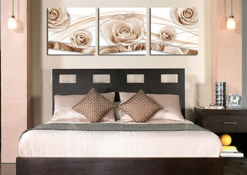 Introducing canvas in bedroom can lower designing cost.