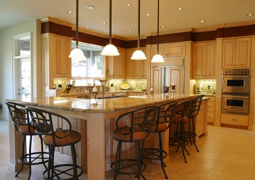 Lightning in Modern Kitchen design.