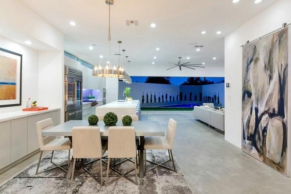Open kitchen design ideas for luxury villa