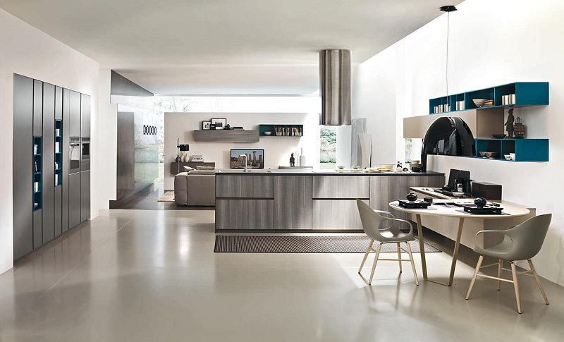 Open kitchen design is the latest interior trend of modern kitchen decorating