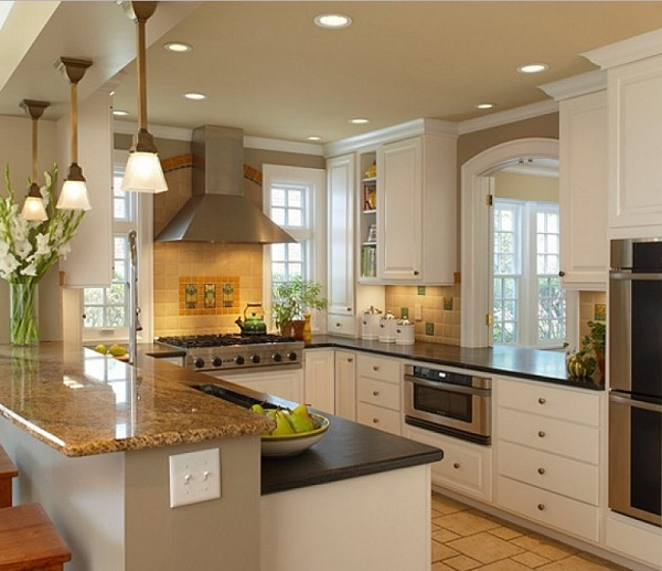 Small kitchen design with proper lightingSmall kitchen design with proper lighting
