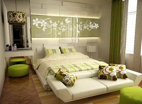 Textiles play crucial role in decorating bedroom.