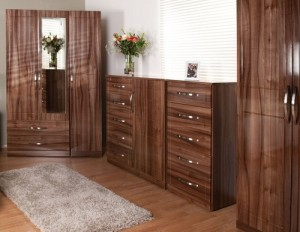 Walnut furniture design for light wood home decor.
