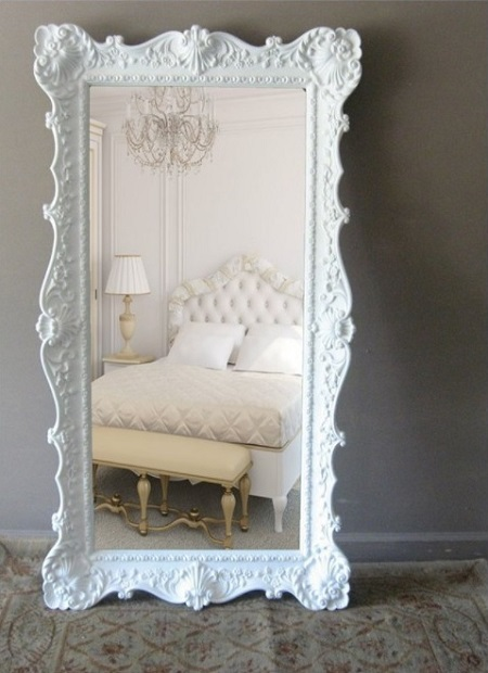Beautiful mirror in bedroom