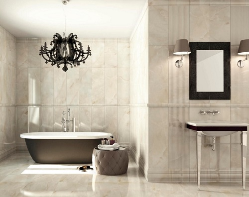 Durable tiles useful to remodel bathroom.