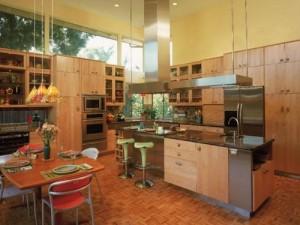 Eco-friendly kitchen cabinets design.