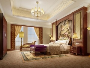 Luxury theme bedroom design.