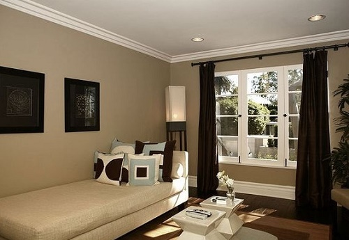Nomadic Taupe color theme room design for home. & Most Popular Paint Colors that make Rooms Look Bigger | Home Decor Buzz