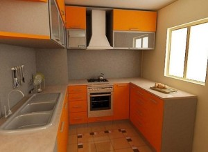 Paint kitchen cabinets to reduce kitchen design cost.