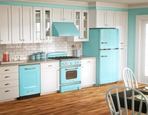 Put less items in kitchen to decor kitchen in budget.