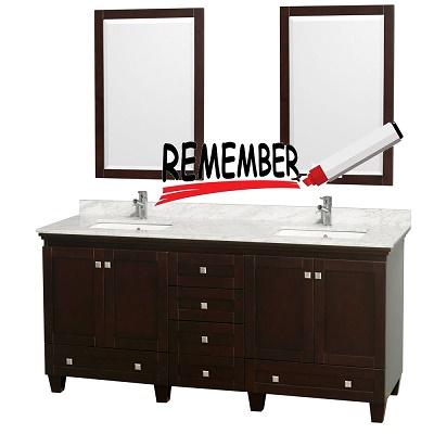Things to look before buying Bathroom vanities
