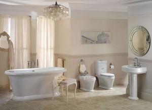 Vintage Style master bathroom design.