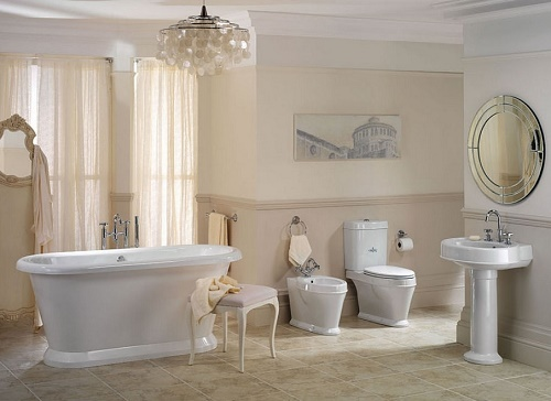 Vintage Style Master Bathroom Design