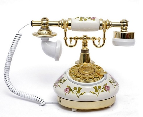 Antique looking vintage telephone for home.