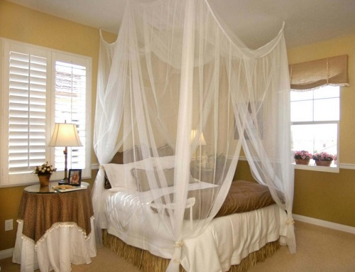 Bed netting ideas for small room space.