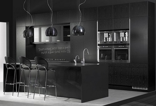 Black kitchen design trend for 2016.