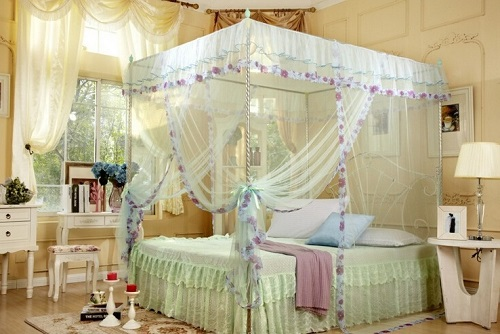 Full accessory with bed netting for home bedroom decoration.