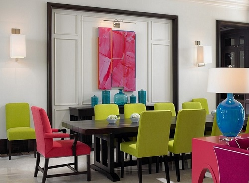 How to play with colors in home interior decoration.