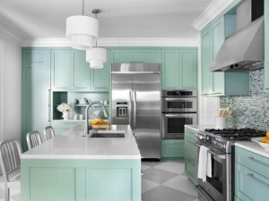 Lovely kitchen design paint.