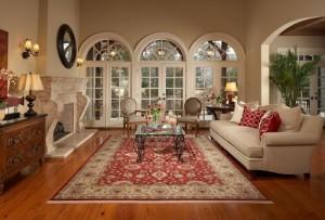 Lovely rug for living room.