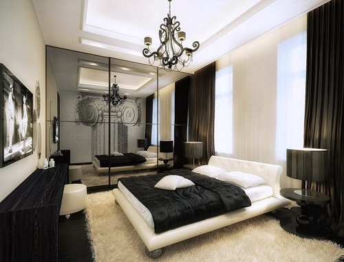 Modern Luxurious Bedroom Decor Look.