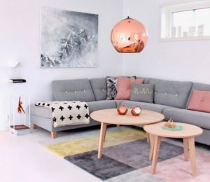 Multicolor rug for living room