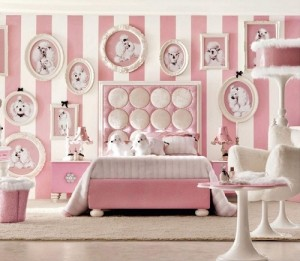 Pink color bedroom interior design ideas for girls room.