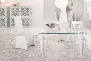White carpet for decorating living room