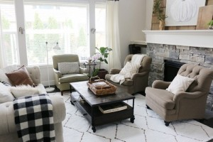 White style living room rugs.