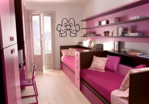 Bookshelf for girl dream bedroom decor.