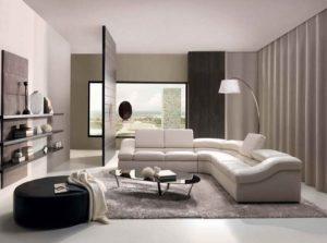 Bright living room interior design 2016.