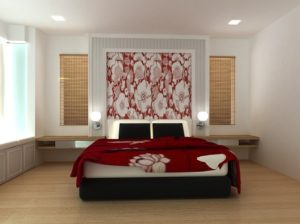 Compose Romantic bedroom interior.