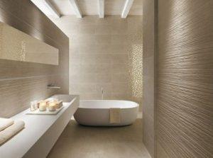 Contemporary looking luxury bathroom design.