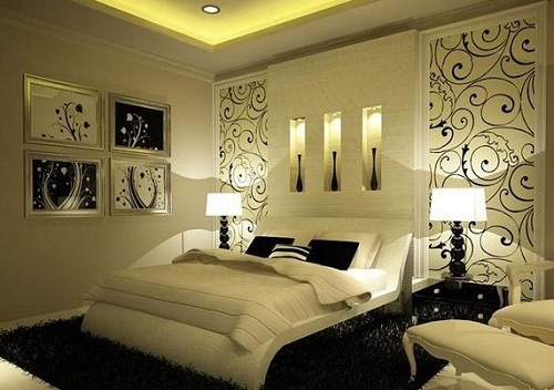 Lampshades for romantic bedroom decoration.