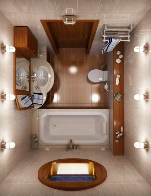 Luxurious Small bathroom design photo by homedecorbuzz