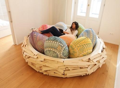Nest bedroom idea for girls.