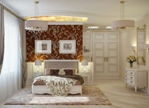 Neutral and relaxing bedroom to bring romance in room.