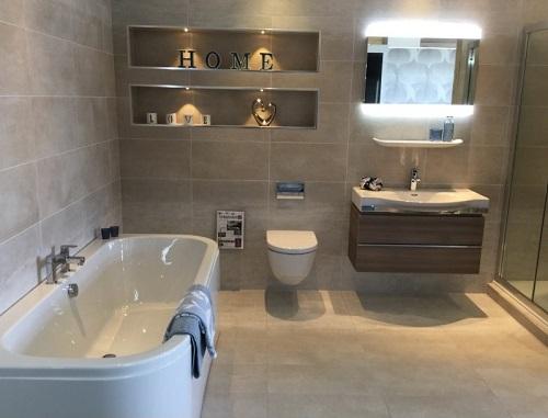 Stylish Luxurious Bathroom Interior Design.
