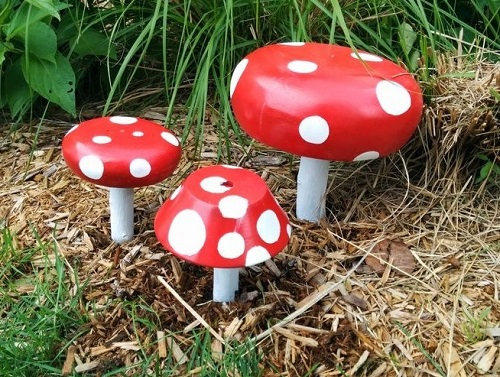 Toadstools for garden.